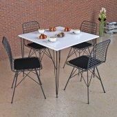 Beyaz Masa Takımı, 70x70cm, 4 Sandalyeli
