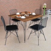 Barok Masa Takımı, 70x70cm, 4 Sandalyeli