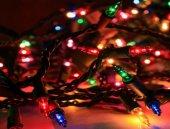 40 Ledli Pirinç Renkli Yılbaşı Ağacı Işığı