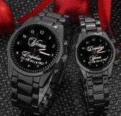 Sevgili Saatleri Erkek Bayan Saati Hasır Kordon İsimli Saat Sevgiliye Hediye Çift Saatleri