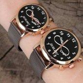 Metal Kordon Sevgili Saatleri Çift Saatleri İsimli Ve Tarihli Saat Yılbaşı Hediyesi