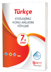 7. Sınıf Türkçe Etk. Konu Anlatımlı Föy 4 Adım Yayınları