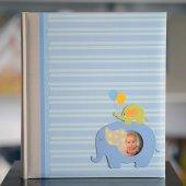 200 Lük 13x18 Mavi Çerçeveli Notlu Bebek Albümü...