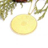 925 Ayar Gümüş Dua Yazılı Kolye (Kolye Ucu Çapı 4 Cmdir)
