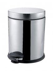 Pedallı Çöp Kovası Krom Paslanmaz Çelik 3lt Banyo Mutfak Çöp