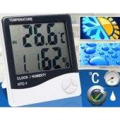 Masaüstü Dijital Termometre Nem Ölçer Higrometre Alarmli Saat
