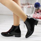 Ayakland 622 Günlük Fermuarlı Bayan Rugan Bot Ayakkabı SİYAH-2
