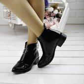 Ayakland 622 Günlük Fermuarlı Bayan Rugan Bot Ayakkabı SİYAH-3