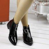 Ayakland 622 Günlük Fermuarlı Bayan Rugan Bot Ayakkabı SİYAH-4