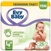 Evy Baby 4+ Numara 26 Adet Bebek Bezi 9 16 Kg