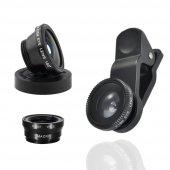 Geniş Açı Cep Telefon Lens Seti Profesyonel Balık Gözü Kamera