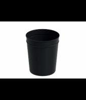 Baymera Metal Silindir Çöp Kovası Siyah