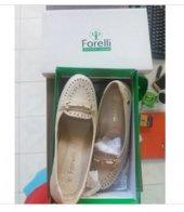 Forelli Deri Ortopedik Comfort Bayan Ayakkabı Bej Krem 40 Numara