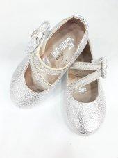 MiniWomen002 Günlük Ortopedik Abiye/Babet KızÇocuk Ayakkabıları Gümüş-4