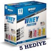 West Nutrition Whey Protein Tozu 2592 gr 72 Şase BİR KUTUDA 4 AROMA 5 HEDİYE