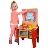 Ahşap,ayaklı Oyuncak Mutfak Seti Lk Mutfak Setim
