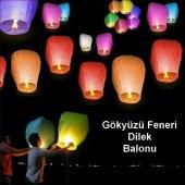 10 Adet Dilek Feneri Dilek Balonu Uçan Balon Gökyü...