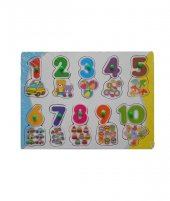 Ahşap Tutmalı Puzzle Bultak Sayılar 10lu