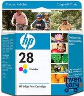 HP 28 C8728A/C8728AE RENKLI ORJINAL KARTUŞ ESKI TARIHLI