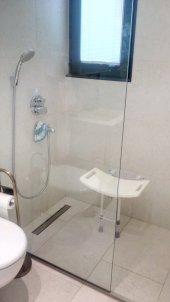 PRZ 5105 - Asisty İthal Duvara Monte Edilen Ayaklı Duş Taburesi