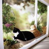 Sunny Seat Cama Asılan Minderli Kedi Yatağı Yastığı Kedi Hamağı