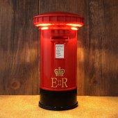 Posta Kutusu Tasarımlı Lamba Kumbara Retro Dekorat...