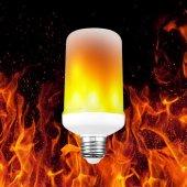 Alevli Led Ampul Led Işık Alev Efektli Led Işık...