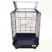 Qh Papağan Kafesi Açılır Çatılı Siyah 40,5x40,5x59,5 Cm