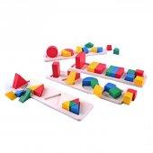 Ahşap Geometri Şekilleri Puzzle
