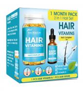Hairash Vitamins Saç Vitamini Ve Serum İkili Set
