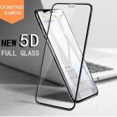 iPhone 6-7-8-Plus-X-XS-11-Max 3D-5D-6D Büyük Kavisli Kırılmaz Cam