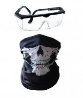 Maske Buff Ayarlanabilir Koruma Boyunluk + Koruyucu Ayarlanabilir Gözlük