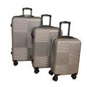 3 Lü Set Abs Poli Karbon Kırılmaz Valiz Bavul...
