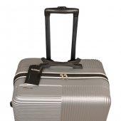 3 Lü Set Abs Poli Karbon Kırılmaz Valiz Bavul Büyük+orta+Kabin  Seyahat Çantası -4