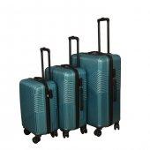 3 Lü Set Abs Poli Karbon Kırılmaz Valiz Bavul Büyük+orta+Kabin  Seyahat Çantası -10