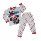 Kız Bebek Mickey Mouselu Pijama Takımı