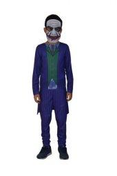 Yetişkin Boy Joker Kostümü - Bay - Bayan Joker Kostümü + Pvc Maske Hediyeli