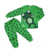 Erkek Bebek Kurbağalı Pijama Takımı