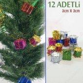 Yılbaşı Ağaç Süsü Hediye Ve Davul Temalı 12 Adetli Set Me044