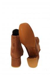 391201Taba Süet Kadın Topuklu Bot-3