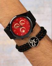 üç Hilal Ülkücü Saat Bileklik Kombini