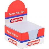 Bigpoint Küp Not Kağıdı Beyaz 8x8cm
