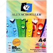 Alex Schoeller Fotokopi Kağıdı A4 10 Renk 100 Lü Alx 779