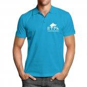 Tengri Biz Menen Kısa Kollu Polo Yaka Mavi Tişört