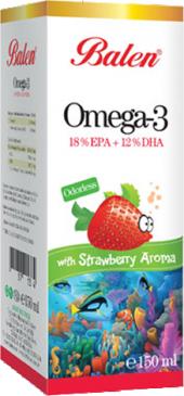 Balen Omega 3 Çilek Aromalı 150 Ml