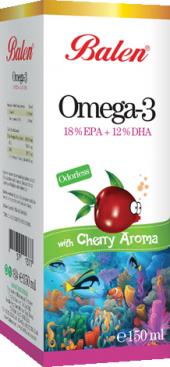 Balen Omega 3 Vişne Aromalı 150 Ml