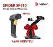 Perkon Spıder Sp610 Usb 1d 2d (Karekod) Okuyucu(Ayak Hediyeli)