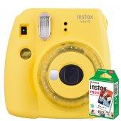Fujifilm İnstax Mini 9 +10'lu Film+askı (Sarı)
