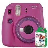 Instax Mini 9 Makine + 10 'lu Film+ Askı +pil...