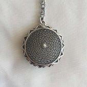 Mardin Telkari İşlemeli Yuvarlak Oksitli Gümüş...